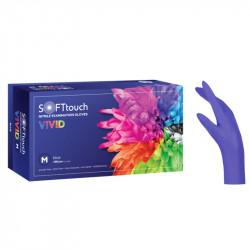 Γάντια νιτριλίου χωρίς πούδρα Vivid μπλε